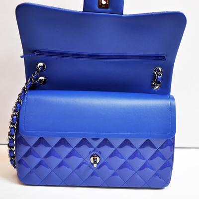 ... Patent Double Flap Bag - Royal Blue 0, 15100, Flap Bags, Chanel