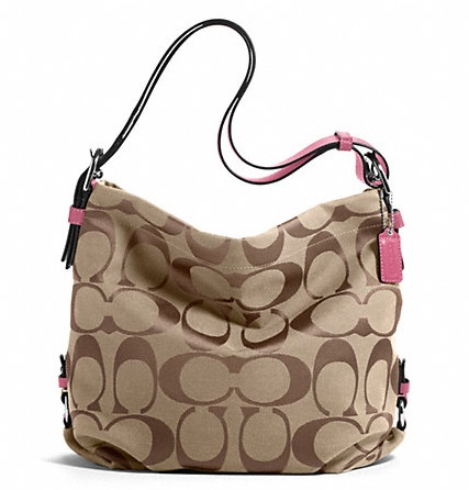 Coach 24cm Signature Duffle - Khaki Rose F15067, 620, Handbags, Coach