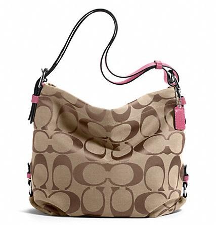 Coach 24cm Signature Duffle Khaki Rose F15067 620 Handbags