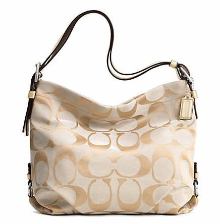 Coach 24cm Signature Duffle - Light Khaki Gold F15067, 620, Handbags, Coach