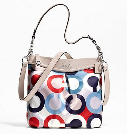 Coach Ashley Op Art Scarf Print Hippie - Multi F23930, 640, Handbags, Coach