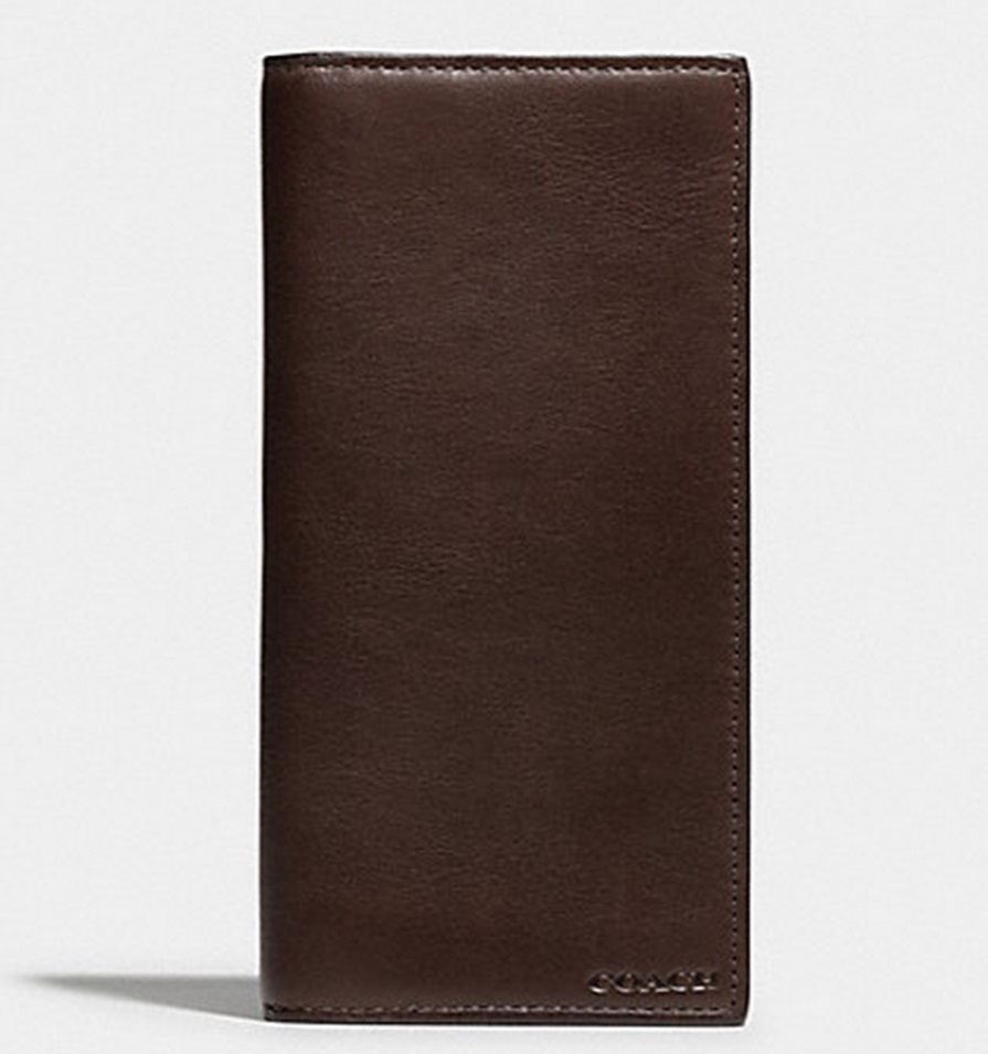 Coach Bleecker Breast Pocket Wallet In Leather - Mahogany 74315, 650, Wallets, Coach