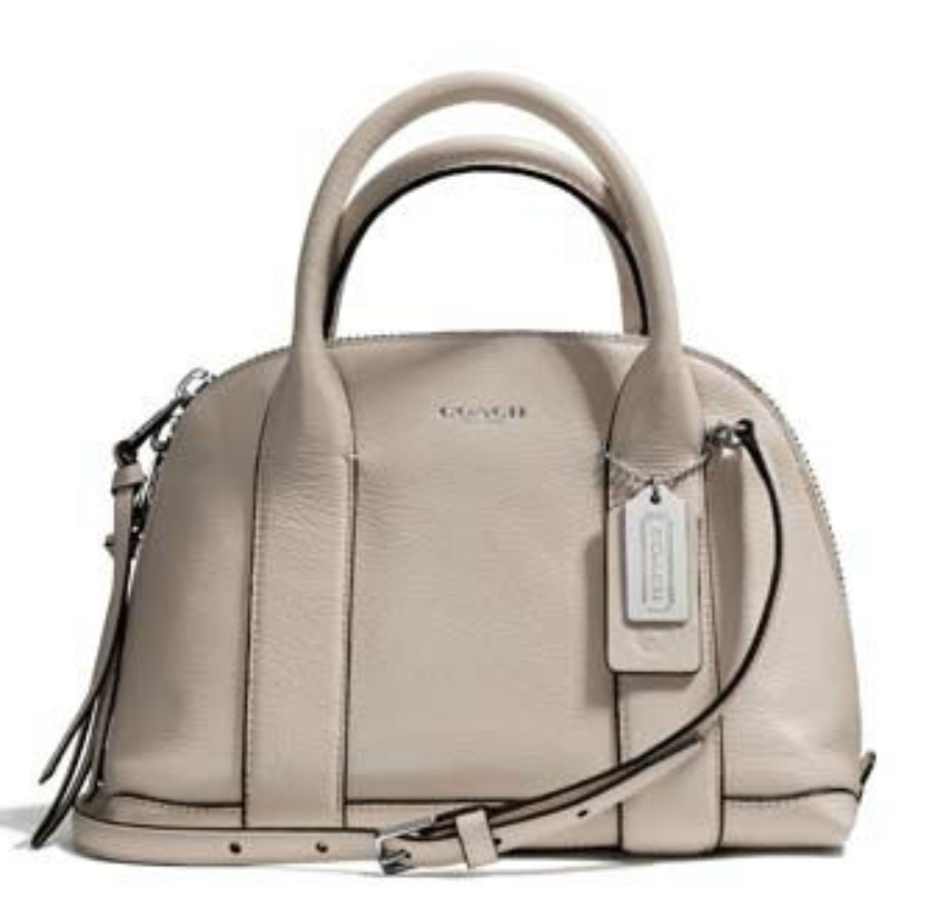 Coach Bleecker Mini Preston Satchel in Pebbled Leather - Ecru 30143, 890, Handbags, Coach