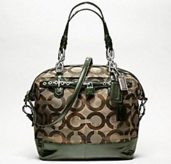 Coach Chelsea Camo Large Emerson Satchel - Green Multi 18120, 2090, N/A, N/A