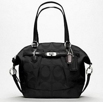 Coach Chelsea Signature Emerson Satchel - Black 17820, 1390, N/A, N/A