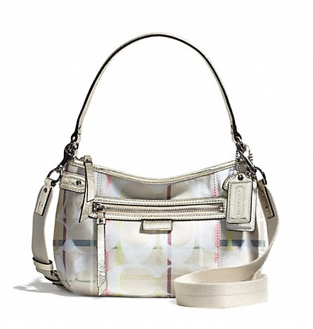 Coach Daisy 24cm Signature Tattersall Crossbody - Multicolor F28210, 520, Handbags, Coach