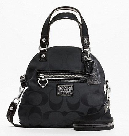 Coach Daisy Signature Foldover Crossbody - Black F22941, 590, Handbags, Coach