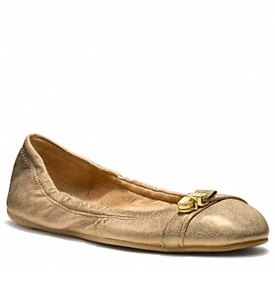 Coach Delphine Shoes - Dark Gold Q1679, 470, Accessories, Coach