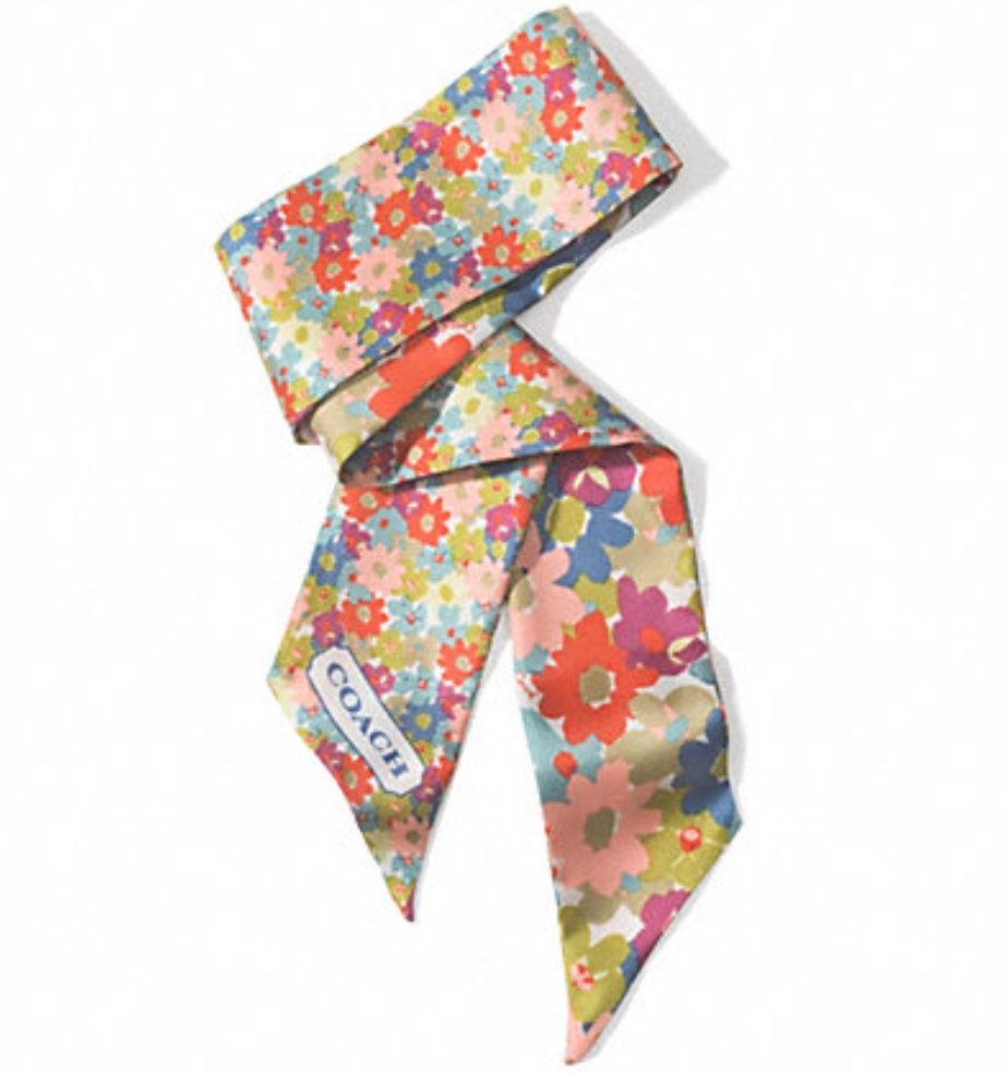 Coach Hadley Floral Ponytail Scarf - Multicolor F84525, 150, Accessories, Coach