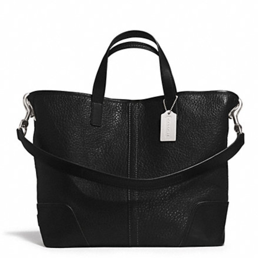 Coach Hadley Luxe Grain Leather Duffle - Black F31334, 790, Handbags, Coach