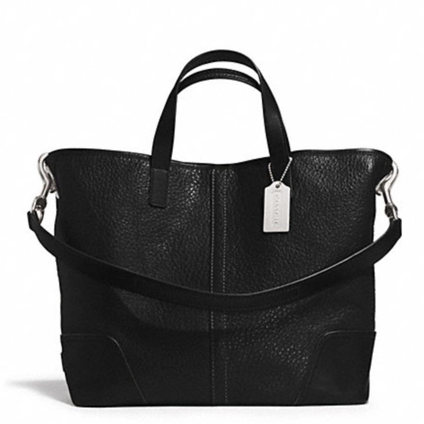 Coach Hadley Luxe Grain Leather Duffle - Black F31334, 790, Handbags, Coach