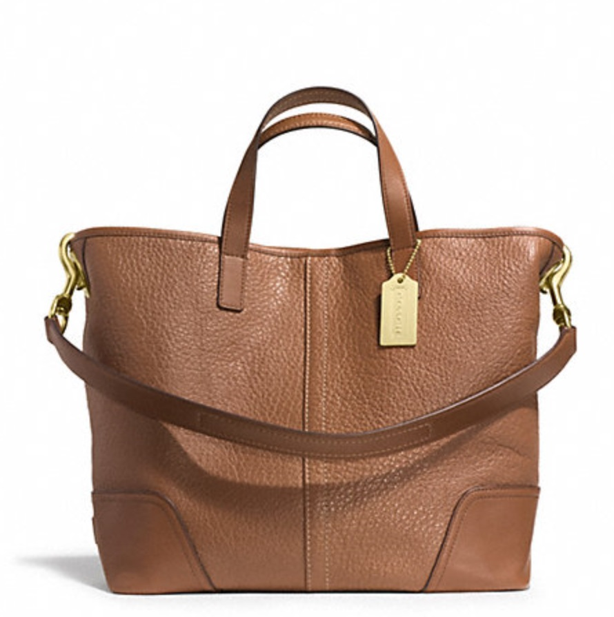 Coach Hadley Luxe Grain Leather Duffle - Saddle F31334, 790, Handbags, Coach