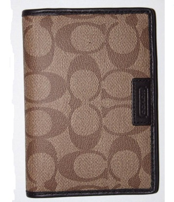 Coach Heritage Signature Passport Case - Khaki Brown F68667, 220, Accessories, Coach