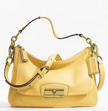 Coach Kristin Leather East-West Crossbody Bag - Buttercup F22308, 650, Handbags, Coach