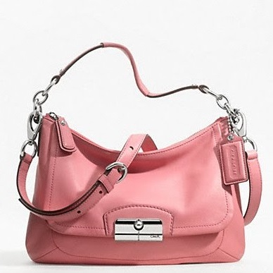 Coach Kristin Leather East-West Crossbody Bag - Rose F22308, 650, Handbags, Coach