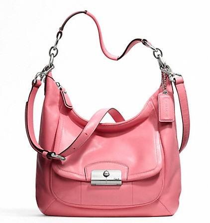 Coach Kristin Leather Hobo - Rose F22306, 760, Handbags, Coach