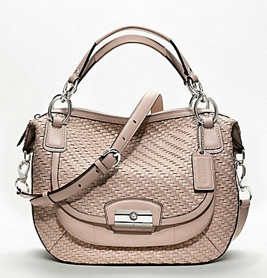 Coach Kristin Woven Leather Round Satchel - Tuberose 19312, 1950, Coach Kristin Collection - March 2012, Coach