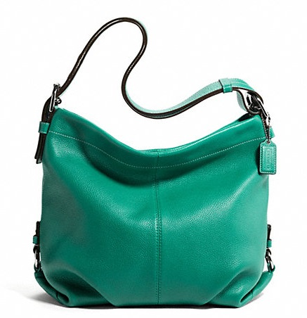 Coach Leather Duffle - Bright Jade F15064, 690, Handbags, Coach