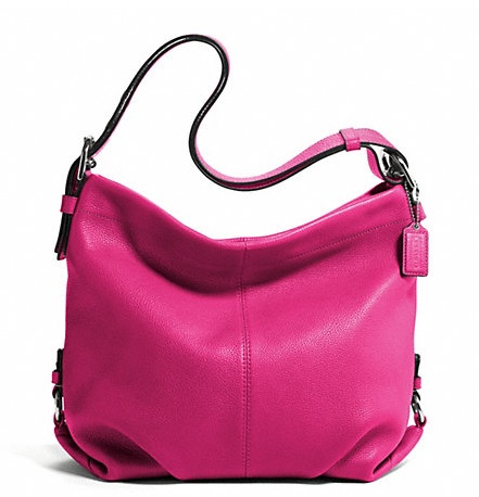 Coach Leather Duffle - Fuchsia F15064, 690, Handbags, Coach