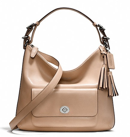 Coach Legacy Leather Courtenay Hobo - Light Khaki 22381, 850, Handbags, Coach