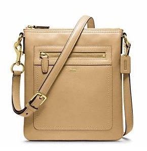 Coach Legacy Leather Swingpack - Sand 47989, 530, Handbags, Coach