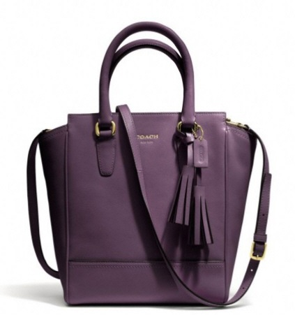 Coach Legacy Mini Tanner in Leather - Black Violet 48894, 890, Handbags, Coach