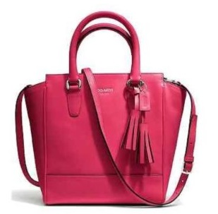 Coach Legacy Mini Tanner in Leather - Pink Scarlet 48894, 850, Handbags, Coach