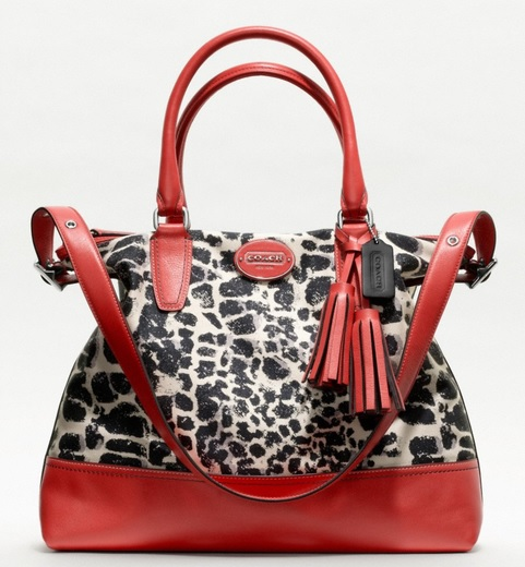 Coach Legacy Ocelot Print Rory Satchel - Neutral Carnelian 19988, 920, Handbags, Coach