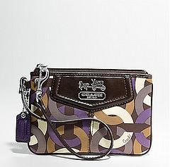 Coach Madison Chainlink Wristlet - Purple Multi 44184, 220, Madison Collection, Coach