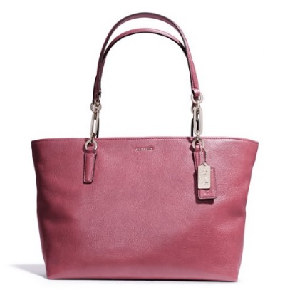 Coach Madison East West Tote in Leather - Rouge 26769, 950, Handbags, Coach