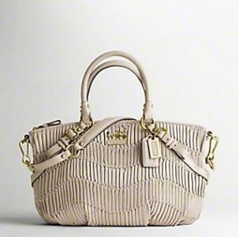 Coach Madison Gathered Leather Sophia Satchel - Bone 15942, 1550, Handbags, Coach