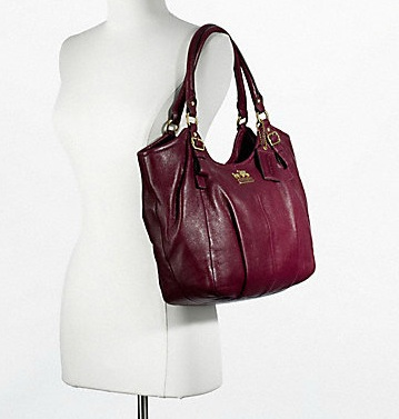 Coach Madison Leather Abigail Shoulder Bag - Bordeaux 18612, 1550, N/A, N/A