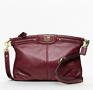Coach Madison Leather Crossbody - Bordeaux 46600, 770, Madison Collection - September 2011, Coach