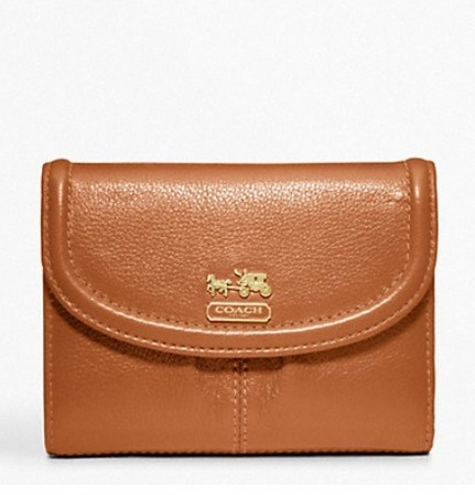 Coach Madison Leather Medium Wallet - Cognac 46608, 460, Wallets, Coach