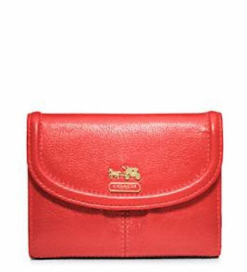 Coach Madison Leather Medium Wallet - Papaya 46608, 460, Wallets, Coach