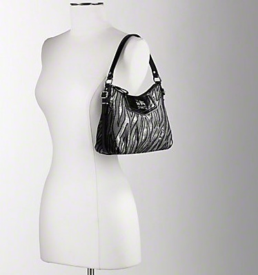 Coach Madison Lurex Zebra Top Handle Pouch - Black Multi 44407, 660, N/A, N/A