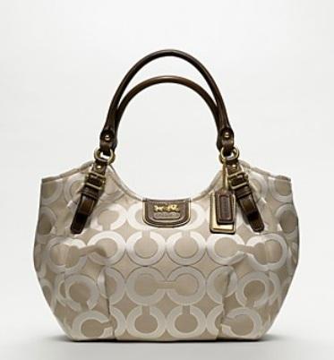 Madison Op Art Metallic Outline Abigail Shoulder Bag 32