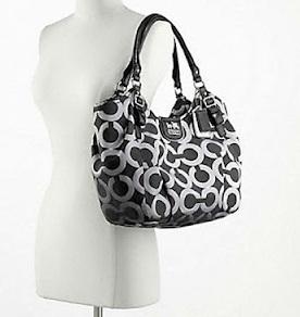 Madison Op Art Metallic Outline Abigail Shoulder Bag 90
