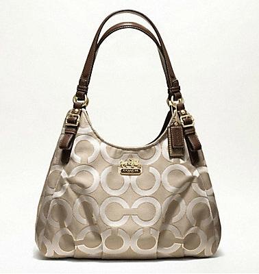 Madison Op Art Metallic Outline Abigail Shoulder Bag 79