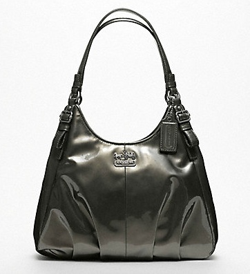 coach gray patent leather handbag afk5  coach gray patent leather handbag