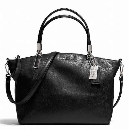 Coach Madison Small Kelsey Satchel in Leather - Black 28095, 920, Handbags, Coach