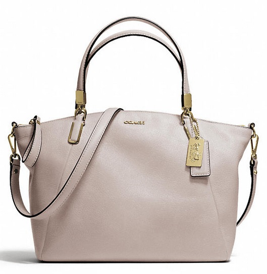 Coach Madison Small Kelsey Satchel in Leather - Grey Birch 28095, 920, Handbags, Coach