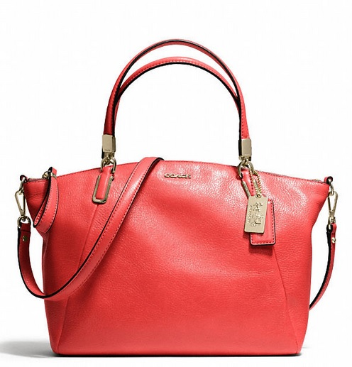 Coach Madison Small Kelsey Satchel in Leather - Love Red 28095, 920, Handbags, Coach
