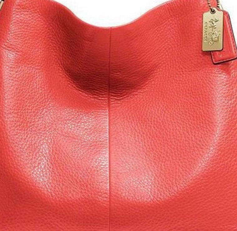 Coach Madison Small Phoebe Shoulder Bag in Leather - Love Red 26224, 990, Handbags, Coach