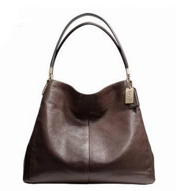 Coach Madison Small Phoebe Shoulder Bag in Leather - Midnight Oak 26224, 1090, Handbags, Coach