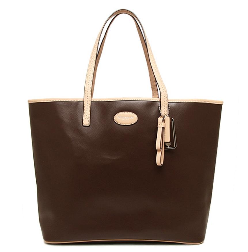 Coach Metro Leather Tote - Mahogany F31326, 650, Handbags, Coach
