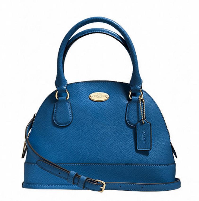 Coach Mini Cora Domed Satchel In Crossgrain Leather - Imden F34090, 620, Handbags, Coach