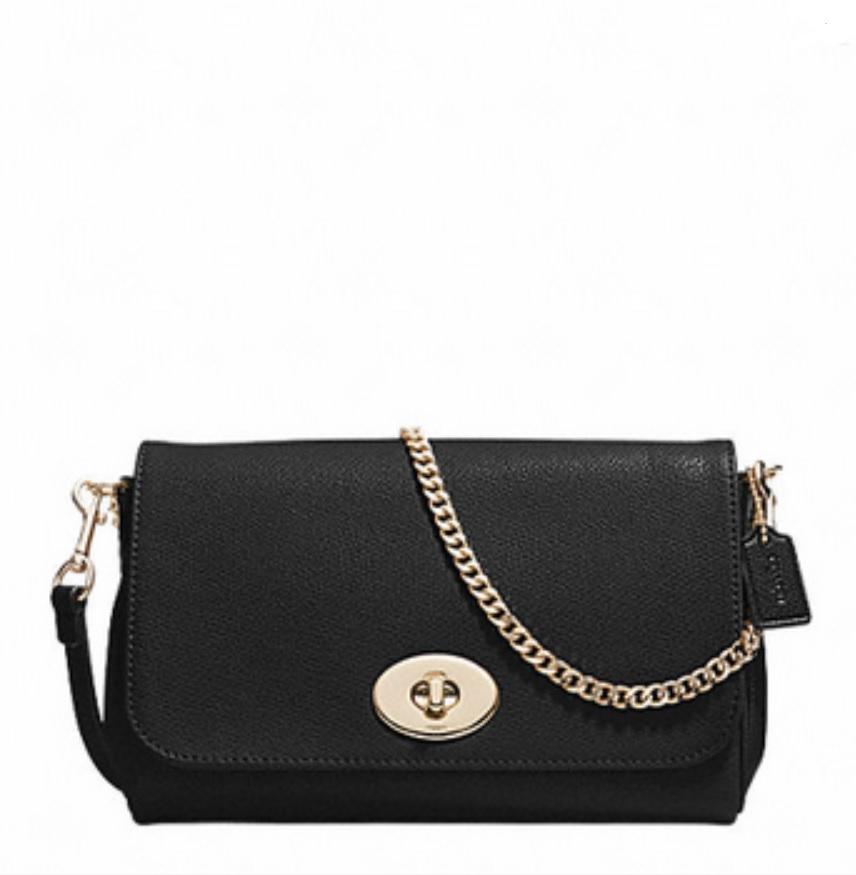Coach Mini Ruby Crossbody In Leather - Black F34604, 580, Handbags, Coach