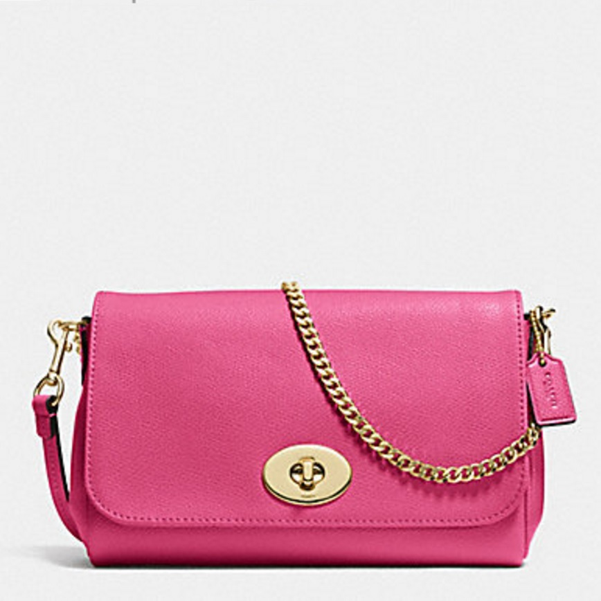 Coach Mini Ruby Crossbody In Leather - Dahlia F34604, 590, Handbags, Coach