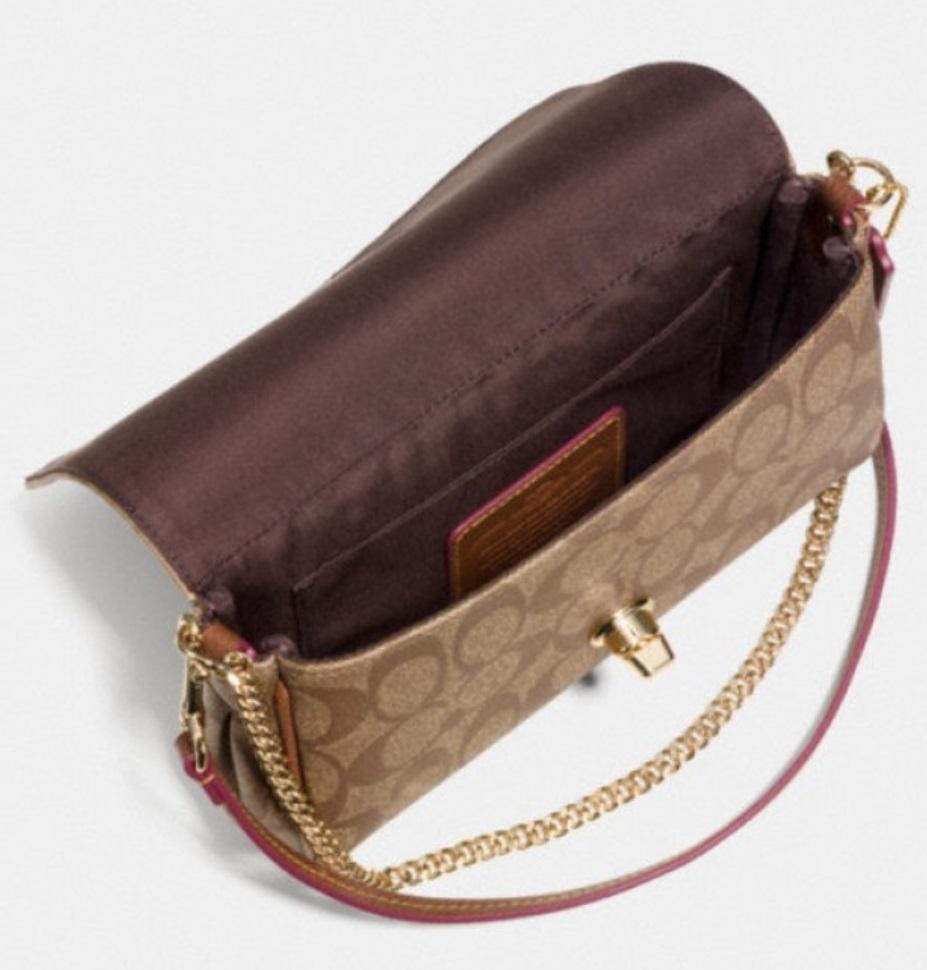 90b69232b9dd2 ... get coach mini ruby crossbody in signature canvas brown black f34615  550 handbags a2e7d 3b746